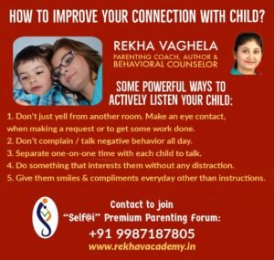 How To improve Your Connection With Child ?