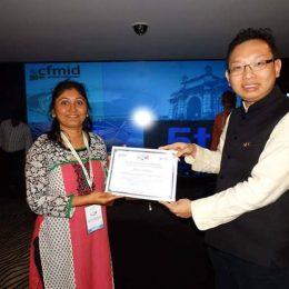 Rekha Vaghela with Marcus Leng (Co-Founder- CFMID)