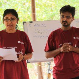 Rekha With Jogesh Jain-JJSE Out Bound Training2