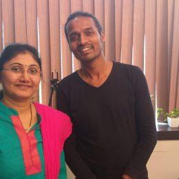 Rekha V with Praveen Wadalkar, Founder and CEO of Techezier,  Speak & Grow.