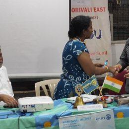 With Rotarian Sanjay Tari-Director of Acensure Financial Solutions Pvt Ltd.