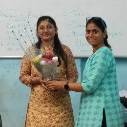 Rekha with Asha Rawat- Founder of Aayojana Coaching Academy